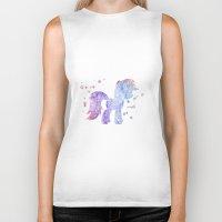 my little pony Biker Tanks featuring My Little Pony by Carma Zoe