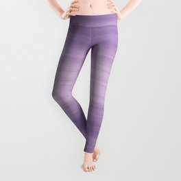 Pastel Ultra Violet Gradient Stripes Trendy Color of the year 2018 Leggings