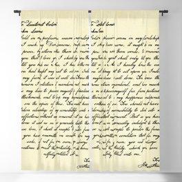 Alexander Hamilton Letter to John Laurens Blackout Curtain