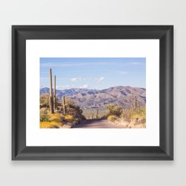 Down Desert Roads, IV Framed Art Print