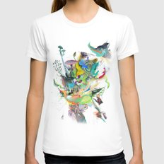 Numb White Womens Fitted Tee SMALL