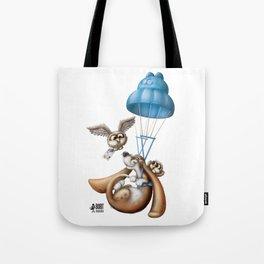 Flying basset Tote Bag