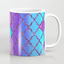 Moroccan Tile Pattern In Purple And Aqua Blue Coffee Mug