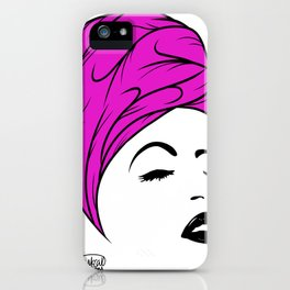 Lady Wrap (purple) iPhone Case