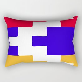 Nagorno Karabakh Republic flag emblem Rectangular Pillow