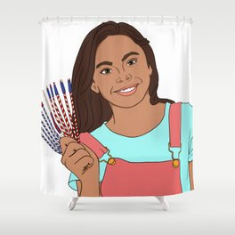 The King Stick Shower Curtain