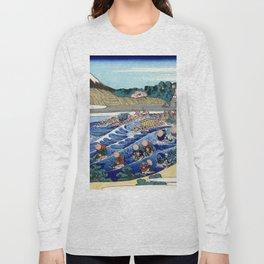 "Hokusai (1760-1849) ""The Fuji from Kanaya on the Tokaido"" Long Sleeve T-shirt"