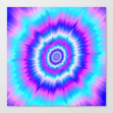 Boom in Blue and Pink Canvas Print