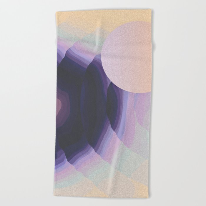 Ultraviolet Impulses Beach Towel