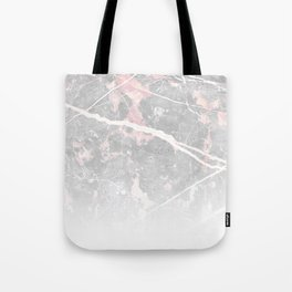 Pastel Pink & Grey Marble - Ombre Tote Bag