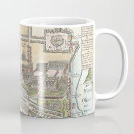 Old 1650 Historic State of Palestine Jerusalem Zion Map Coffee Mug