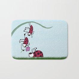 Ladybug Professing His Love Bath Mat