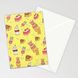 Street Treats on Yellow: Kawaii Food Stationery Cards
