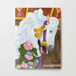 Carousel Horse - Najira Metal Print