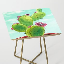 Potted Cactus Side Table