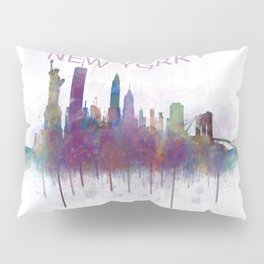 NY New York City Skyline v5 Pillow Sham