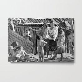 amerindian family  Metal Print