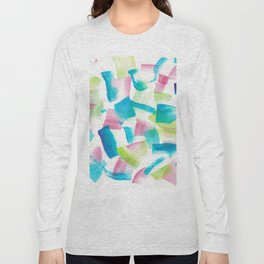 180719 Koh-I-Noor Watercolour Abstract 9 | Watercolor Brush Strokes Long Sleeve T-shirt