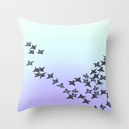 End of Summer - bird flight Throw Pillow