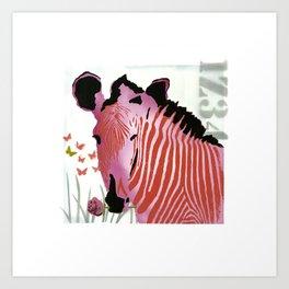 Funky Zebra Style  No3 Art Print