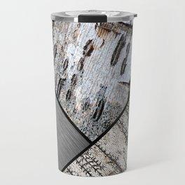 Birch Bark and Digital Brushed Silver Metal Travel Mug