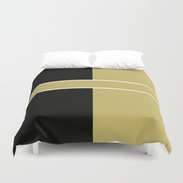 Team Color 6...black,gold Duvet Cover