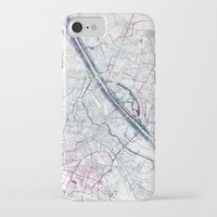 vienna iPhone & iPod Cases featuring Vienna map by MapMapMaps.Watercolors