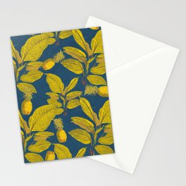 Exotic Pineapple Tropical Banana Palm Leaf Print Stationery Cards