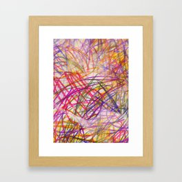Ilaria Multi Scribble Framed Art Print