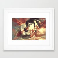sword art online Framed Art Prints featuring Sword Art Online by Attyca