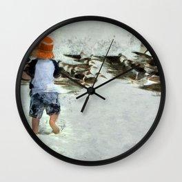 Bird Play Wall Clock