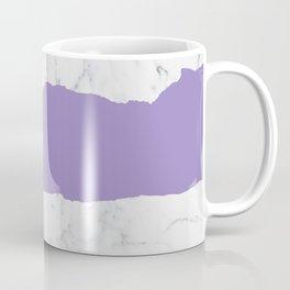 Elegant violet gray white modern marble pattern Coffee Mug