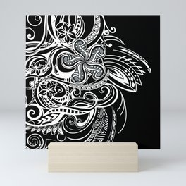Black And White Hawaiian Tribal Mini Art Print