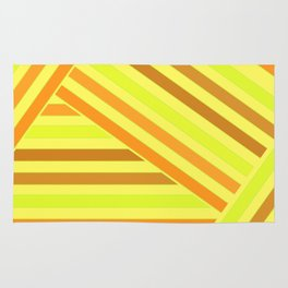 Bright yellow stripes Rug