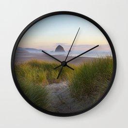 Cannon Beach Dunes Wall Clock