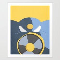 Air Man Boss Art Print