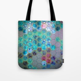 Onion cell hexagons Tote Bag