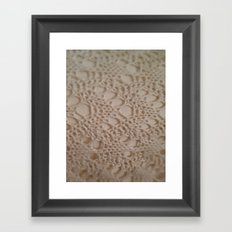 crochet cotton Framed Art Print
