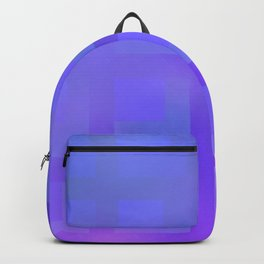 Blue and Purple Plaid Backpack