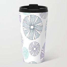 white sea urchin Travel Mug