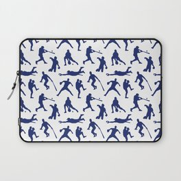 Blue Baseball Players Laptop Sleeve