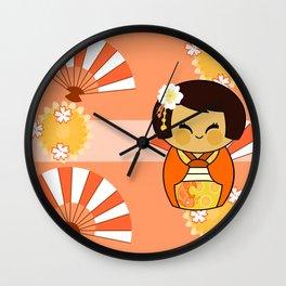 Kokeshi Momo Wall Clock