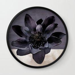 Black Lotus Watercolor Digital Art 2 Wall Clock