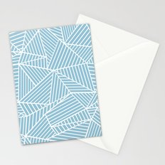 Ab Lines Sky Blue Stationery Cards