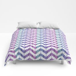 Zigzag striped pattern.2 Comforters