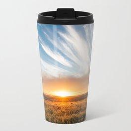 Grand Exit - Golden Sunset on the Oklahoma Prairie Metal Travel Mug