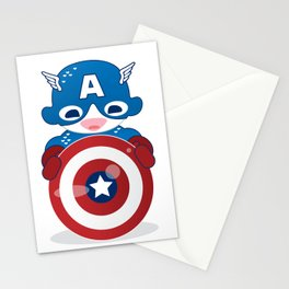 CAPTAIN AMERICA ROBOTIC Stationery Cards