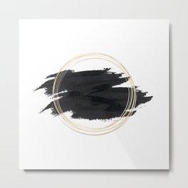 Splash Ellips Metal Print