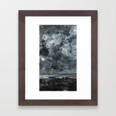 The Town August Strindberg 1903 Framed Art Print