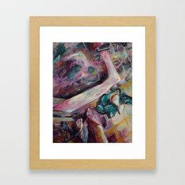 To Take a Shower Framed Art Print